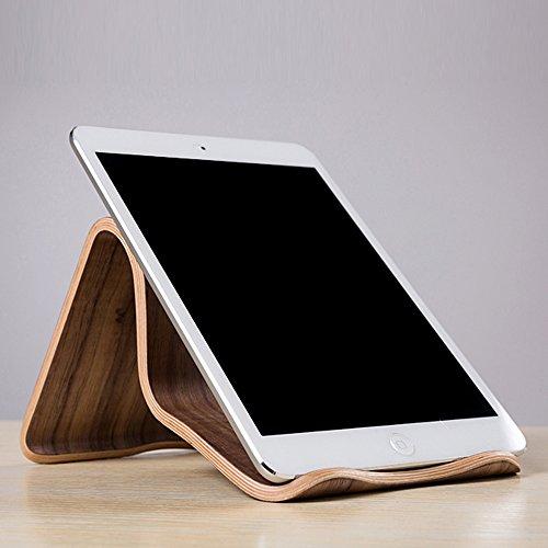 SAMDI Universal Holz Tablet PC Ständer Gerätehalter Halterung für Apple iPad Mini Air 2 3 4 iPhone 6 Samsung Galaxy 10.1 S5 S4 Lenovo LG Google Nexus PAD - 5