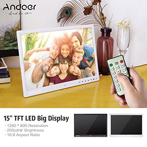 Andoer 15 inch TFT LED Digital Bilderrahmen - 4