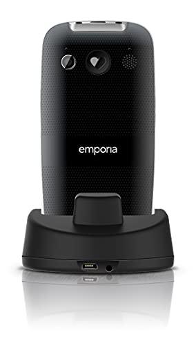 Emporia Euphoria V50 Großtastenhandy (beleuchtete Tasten Seniorenhandy), Schwarz - 4