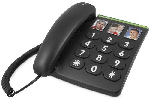 Doro PhoneEasy 331ph Schnurgebundenes Großtastentelefon mit 3 Direktwahl-Fototasten schwarz - 3