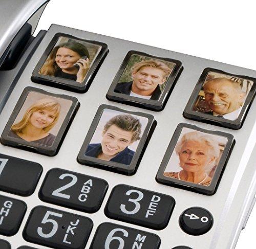 amplicomms BIGTel 40 Plus, Großtastentelefon, Silber - 2