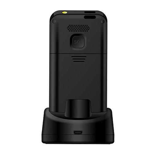 Senioren Handys Ohne vertrag, VOTTAU E09 Einfaches Handy Quad-Band-GSM-Mobiltelefon Großtastenhandy Einfach zu bedienendes mit einzelnes-Sim und Notruffunktion mit SOS-Taste - 2
