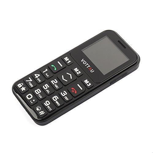 Senioren Handys Ohne vertrag, VOTTAU E09 Einfaches Handy Quad-Band-GSM-Mobiltelefon Großtastenhandy Einfach zu bedienendes mit einzelnes-Sim und Notruffunktion mit SOS-Taste - 3