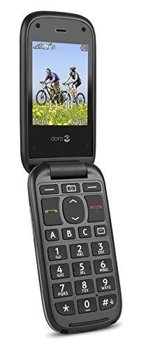 Doro PhoneEasy 613 Mobiltelefon im eleganten Klappdesign (2 Megapixel Kamera, große Tasten und Display, Notruftaste) schwarz - 2