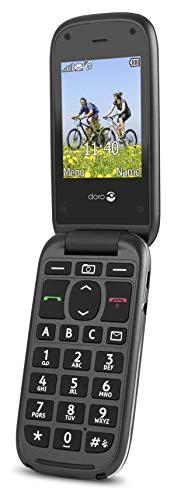 Doro PhoneEasy 613 Mobiltelefon im eleganten Klappdesign (2 Megapixel Kamera, große Tasten und Display, Notruftaste) schwarz - 3