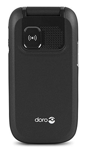 Doro PhoneEasy 613 Mobiltelefon im eleganten Klappdesign (2 Megapixel Kamera, große Tasten und Display, Notruftaste) schwarz - 5