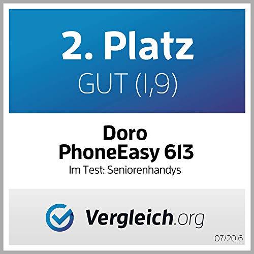 Doro PhoneEasy 613 Mobiltelefon im eleganten Klappdesign (2 Megapixel Kamera, große Tasten und Display, Notruftaste) schwarz - 6