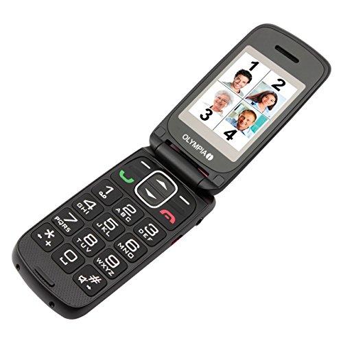 OLYMPIA 2257 Komfort-Mobiltelefon, schwarz