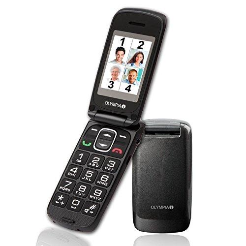 OLYMPIA 2257 Komfort-Mobiltelefon mit Großtasten/Farb-LC-Display Modell Classic mini schwarz - 3