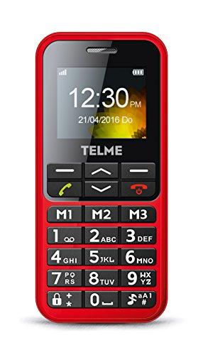Emporia TELME C151 (Extragroße Beleuchtete Großtastenhandy) Rot - 2