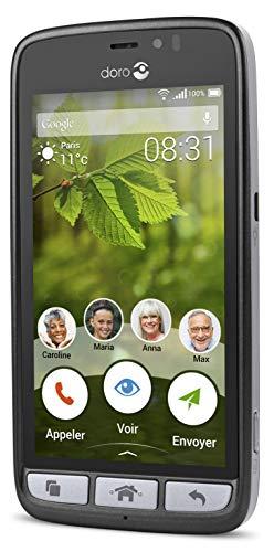 Doro 8031 4G Smartphone (11,4 cm (4,5 Zoll), LTE, 5 MP Kamera, Android 5.1) schwarz/stahl - 4