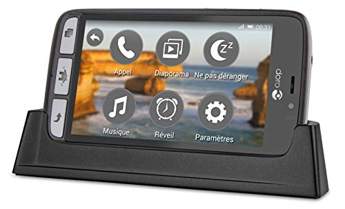 Doro 8031 4G Smartphone (11,4 cm (4,5 Zoll), LTE, 5 MP Kamera, Android 5.1) schwarz/stahl - 6