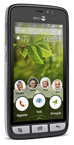 Doro 8031 4G Smartphone (11,4 cm (4,5 Zoll), LTE, 5 MP Kamera, Android 5.1) schwarz/stahl - 7