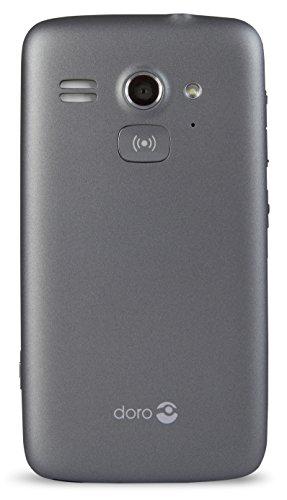 Doro Liberto 820 Mini – 3G Smartphone (4″ Touchscreen, 5 MP Kamera, GPS, Bluetooth 4.0, WiFi, Android 4.4) stahl/schwarz - 3