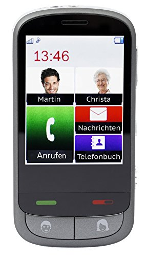 OLYMPIA 2179 Komfort-Mobiltelefon im Smart-Style mit großem Touch-LC-Display Modell Touch