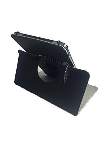 Tablet Senior oder Anfänger simplicitab – Drehbare Schutztasche mit Standfunktion + Touch Pen – 10.1 Zoll Echtleder 360° Schwarz - 3
