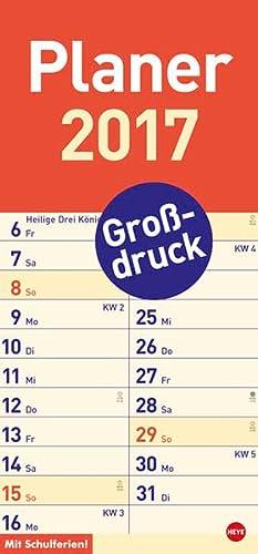 Großdruck Planer - Kalender 2017
