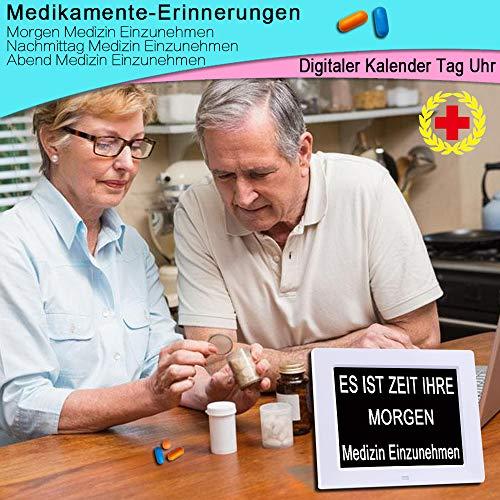 Digitaler Kalender Tag Uhr | Alzheimeruhr | Seniorenuhr - 6