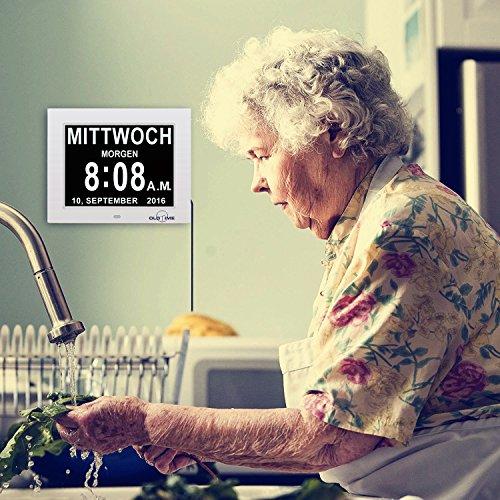 Digitaler Kalender Tag Uhr | Alzheimeruhr | Seniorenuhr - 8