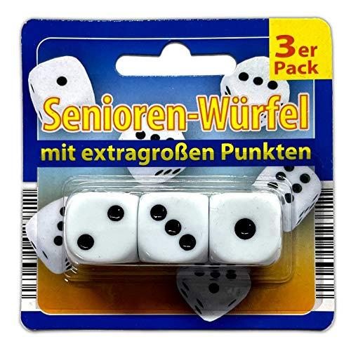 5x XL Augenwürfel Set | Große Spielwürfel | Senioren Würfel | Knobel Kniffel