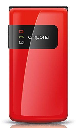 Emporia F220 Großtastenhandy (Farbdisplay) Wecker mit Schlummerfunktion rot