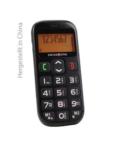 swisstone BBM 320 – Seniorenhandy mit Notruftaste (4,3 cm (1,7 Zoll) Display, 600mAh Akku) schwarz - 4