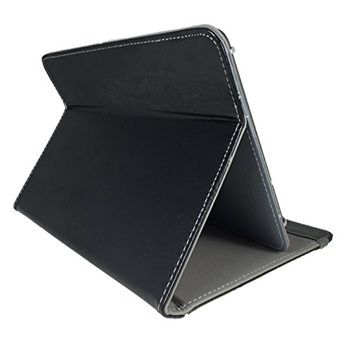 3er Starter Set: Asina Tablet für Senioren 10.1 / 25,65cm Tablet Pc Tasche + Touch Pen + Profi Staubschutz Stöpsel – 10 Zoll Schwarz 3 in 1 * - 2