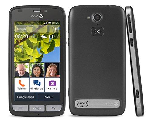 Doro Liberto 820 3G Smartphone (11,4 cm (4,5 Zoll) Touchscreen, 8 Megapixel Kamera, 1 GB RAM, GPS, Bluetooth 4.0, WiFi, Android 4.4) mit Experience Benutzeroberfläche schwarz - 11