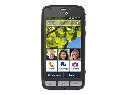 Doro Liberto 820 3G Smartphone (11,4 cm (4,5 Zoll) Touchscreen, 8 Megapixel Kamera, 1 GB RAM, GPS, Bluetooth 4.0, WiFi, Android 4.4) mit Experience Benutzeroberfläche schwarz - 3