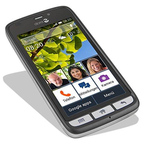 Doro Liberto 820 3G Smartphone (11,4 cm (4,5 Zoll) Touchscreen, 8 Megapixel Kamera, 1 GB RAM, GPS, Bluetooth 4.0, WiFi, Android 4.4) mit Experience Benutzeroberfläche schwarz - 8