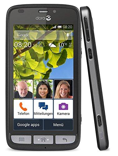 Doro Liberto 820 3G Smartphone (11,4 cm (4,5 Zoll) Touchscreen, 8 Megapixel Kamera, 1 GB RAM, GPS, Bluetooth 4.0, WiFi, Android 4.4) mit Experience Benutzeroberfläche schwarz - 9