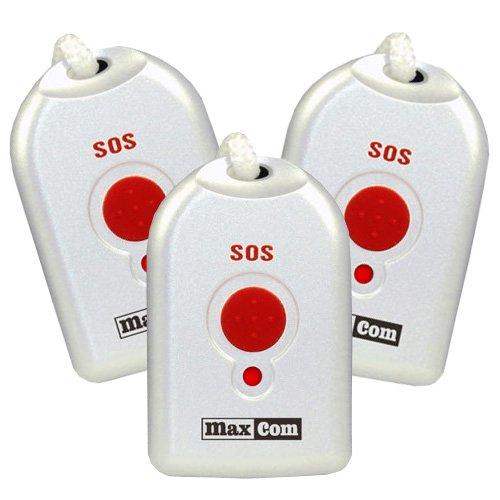 (Zusätzliche) Umhänge-Sender für Senioren-Notruf-Telefon MaxCom KXTSOS (3 Stück)
