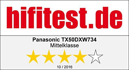 Panasonic TX-50DXW734 Viera 126 cm (50 Zoll) Fernseher (4K Ultra HD, 1400 Hz BMR, HDR High Dynamic Range, Quattro Tuner mit Twin-Konzept, Smart TV) -