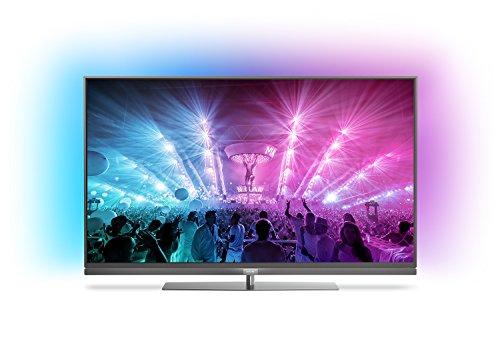 Philips 55PUS7181/12 139,7 cm (55 Zoll) Ultraflacher Android 4K-Fernseher (3-seitigem Ambilight und PixelPrecise Ultra HD)