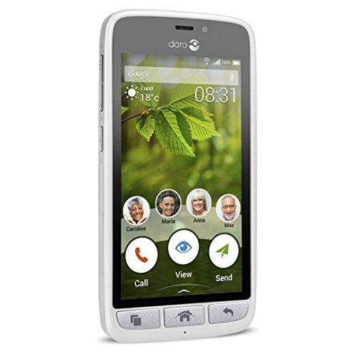 Doro 8031 4G Smartphone (11,4 cm (4,5 Zoll), LTE, 5 MP Kamera, Android 5.1) weiß/silber - 4