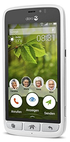 Doro 8031 4G Smartphone (11,4 cm (4,5 Zoll), LTE, 5 MP Kamera, Android 5.1) weiß/silber - 5