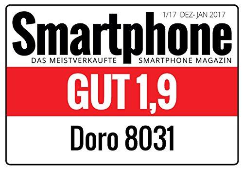 Doro 8031 4G Smartphone (11,4 cm (4,5 Zoll), LTE, 5 MP Kamera, Android 5.1) weiß/silber - 7