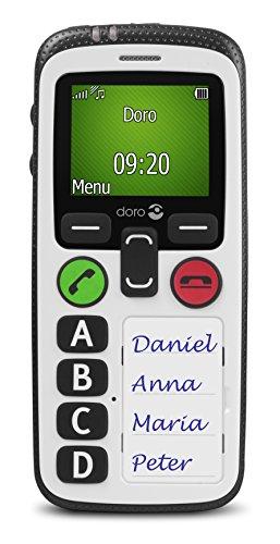 Doro Secure 580 GSM Mobiltelefon (4 Kurzwahltasten, Sicherheitstimer) schwarz-weiß - 2