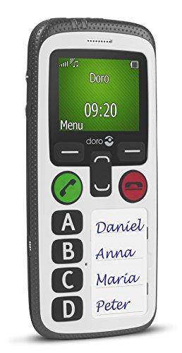 Doro Secure 580 GSM Mobiltelefon (4 Kurzwahltasten, Sicherheitstimer) schwarz-weiß - 3