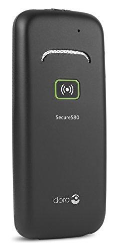 Doro Secure 580 GSM Mobiltelefon (4 Kurzwahltasten, Sicherheitstimer) schwarz-weiß - 8