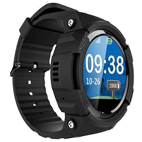 Smart Watch für Senioren,QIMAOO Smart Uhr mit GPS Tracker, Handy Ortung, SOS und App Tracking für Android Smartphone,HTC, Sony, Samsung, LG Google, Pixel ,iPhone 5 / 5S / 6 / 6Plus/7 / 7plus/8/X - 2