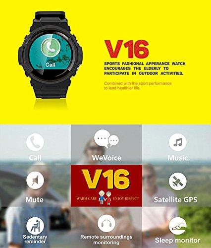 Smart Watch für Senioren,QIMAOO Smart Uhr mit GPS Tracker, Handy Ortung, SOS und App Tracking für Android Smartphone,HTC, Sony, Samsung, LG Google, Pixel ,iPhone 5 / 5S / 6 / 6Plus/7 / 7plus/8/X - 4