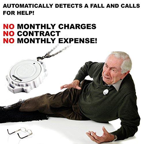 gdreamer Notfall Fall & Motion Detection und Personal Care Alarm Gerät für Senioren–Macht Notfall Anrufe mit einer Presse von einem Knopf in nur eine zweite - 2
