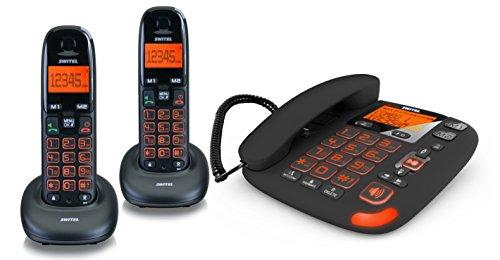 Switel DCT50073C VITA trio combo Seniorentelefon mit Anrufbeantworter
