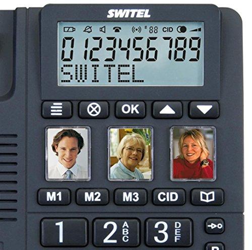 Switel TF550 schnurgebundenes Grosstastentelefon mit 3 direktwahl Fototasten, extra laut - 5