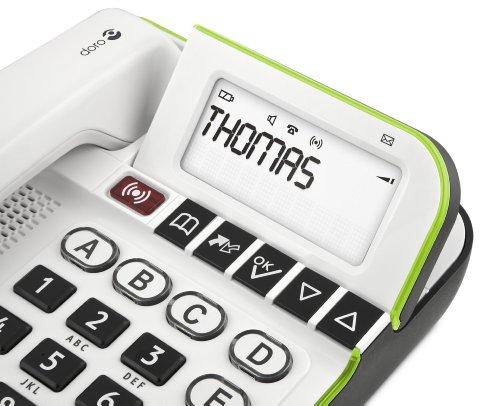 Doro Secure 350 Schnurgebundenes Großtastentelefon mit Notruf-Alarmgeber weiß - 5