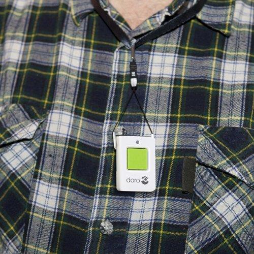 Doro Secure 350 Schnurgebundenes Großtastentelefon mit Notruf-Alarmgeber weiß - 10