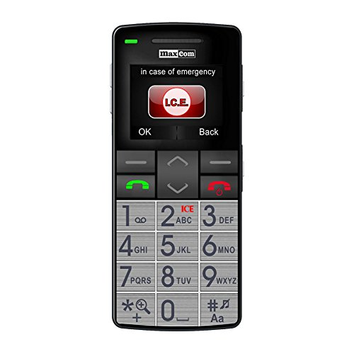 Maxcom MM 715 Großtasten Handy mit Notrufarmband (4,5 cm (1,8 Zoll) Farbdisplay, großes Telefonbuch (300), FM Radio, 1,3 Megapixel Kamera, WAP, Bluetooth) silber/schwarz - 9