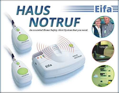 Mobiler Alarm Notruf Knopf 1 Empfänger +2 Sender Krankenpflege Altenpflege Senioren Rentner Hausalarm Pflege Hausnotruf Mobil Panik Panikalarm Funkalarm - 2