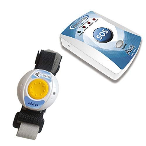 Pflegeruf-Set mit (Not-) Ruf an Handy oder Telefon - über Funk-Armbandsender und Mobilfunknetz